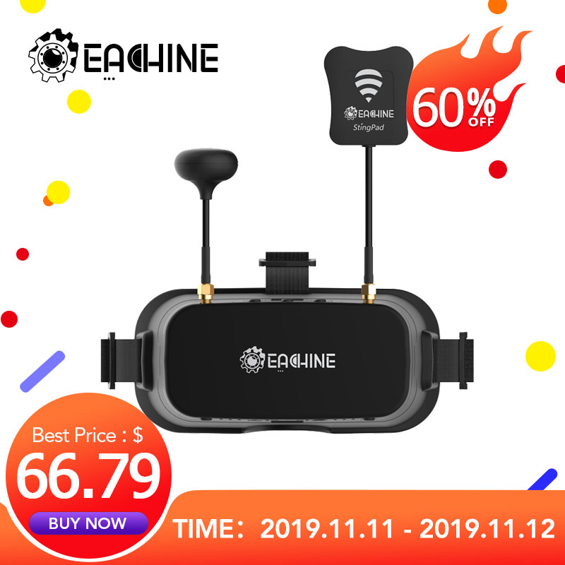 Eachine EV800DM Varifocal 5.8G 40CH Diversity FPV Goggles With HD DVR 3 Inch 900x600 Video Headset Build In Battery
