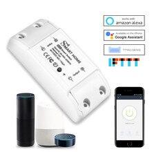 Inteligente diy wi fi sem fio interruptor remoto disjuntor domótic led módulo de controlador luz alexa google casa temporizador smartlife tuya app