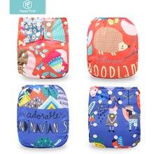 HappyFlute детские карманные тканевые подгузники с цифровой позицией, экологически чистые подгузники с карманом, один размер, подходит для 3-15 кг, для маленьких мальчиков и девочек
