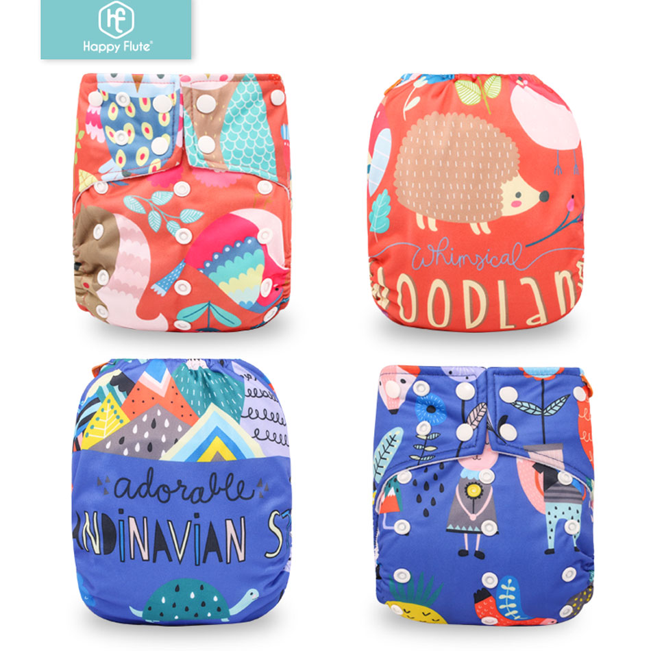 HappyFlute Baby Pocket Cloth Diaper Digital Position Baby Cloth Diaper With Pocket One Size Fit 3-15kg Baby Boys And Grils