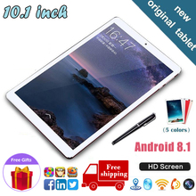 Tablet PC Free Shipping Android 8.1 Tablet 10core 6GB + 128GB Dual SIM Dual Camera  4G  tablets  Free Gifts Computer Network