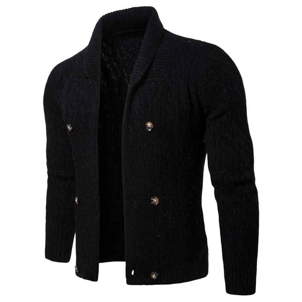 Cotton Sweater Men Long Sleeve Pullovers Outwear Man V-Neck Sweaters