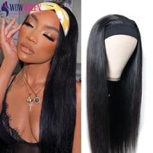 250 de densidad peluca con diadema pelucas de cabello humano Wowqueen 30 pulgadas peluca sin costuras pelucas de cabello brasileño recto Remy pelucas de cabello humano