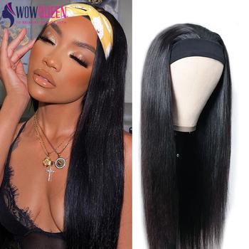 250 gęstość pałąk peruka ludzki włos peruki Wowqueen 30 Cal peruka Glueless brazylijski włosy peruki Remy proste włosy ludzkie peruki tanie i dobre opinie CN (pochodzenie) Remy włosy Średnia wielkość
