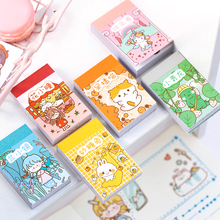 Yoofun 50 Sheets Small Meatball Series Different Patterns Mini Sticker Book Kawaii Bullet Journaling Planner Decor Stationery