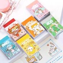 Yoofun 50 folhas pequena série de almôndegas diferentes padrões mini adesivo livro kawaii bala jornaling planejador decoração papelaria