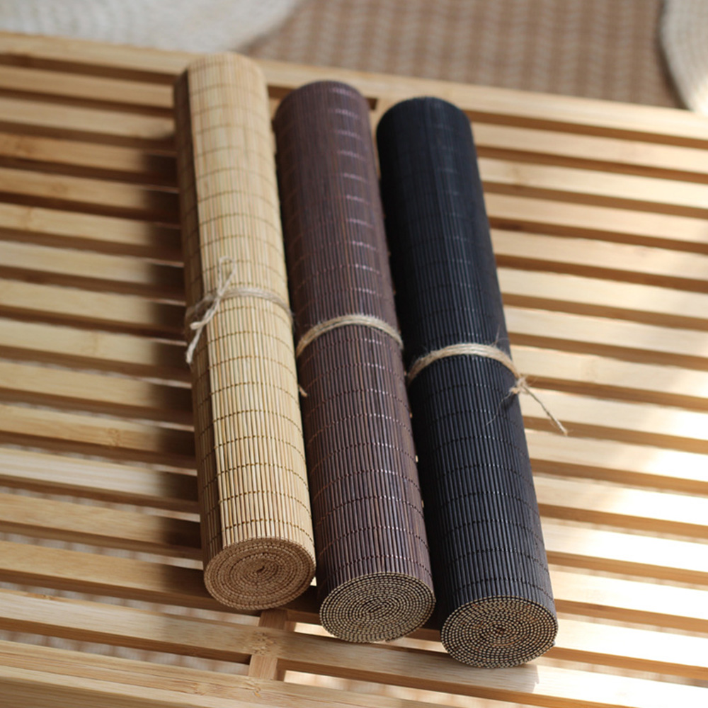 Yazi Japanese Bamboo Mats Table Runners Curtains Table Cover Kung Fu Tea Set Accessories Home Decor Coffee Tablecloth