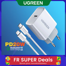 Ugreen Quick Charge 4.0 3.0 Qc Pd Charger 20W QC4.0 QC3.0 Usb Type C Fast Charger Voor Iphone 12 X Xs 8 Xiaomi Telefoon Pd Charger