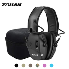 ZOHAN Tactical headset Electronic Ear Protection for Shooting earmuffs headphones hunting Amplification Noise Reduction NRR 22db