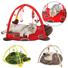 Cat Bed Pet Dog Play Tent Soft Cushion Toys Nest Pad Blanket House D30