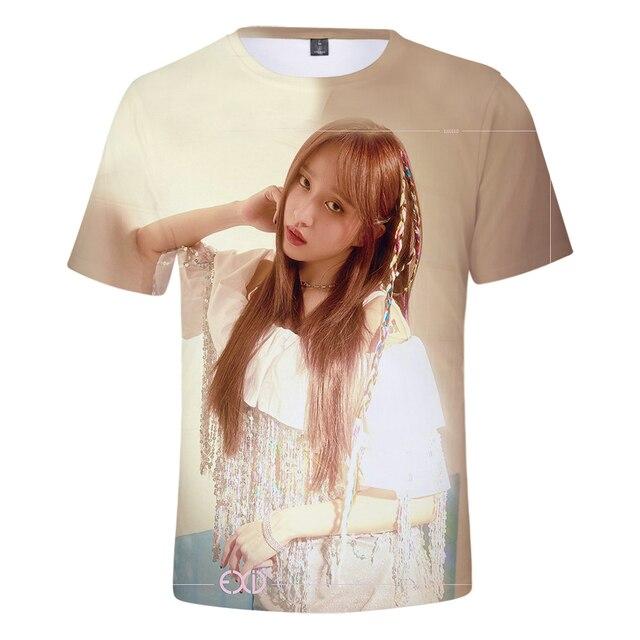 Été Kpop corée EXID 3D T-shirt hommes Harajuku style coréen version de hip-hop idole EXID 3D T-shirt t-shirts populaires