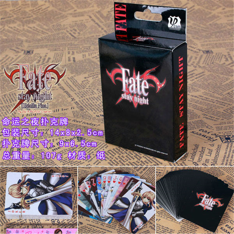 10 Boxes/lot Anime Fate Stay Night Poker Cards Cosplay Saber Tohsaka Board Game Cards With Box Playing Cards Desktop Game Card