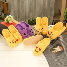 Women Slipper Shoes Winter Warm Slipper Indoors Anti-slip House Shoes Soft Home Shoes Fur Casual Flat Slipper Plush kapcie A40(China)