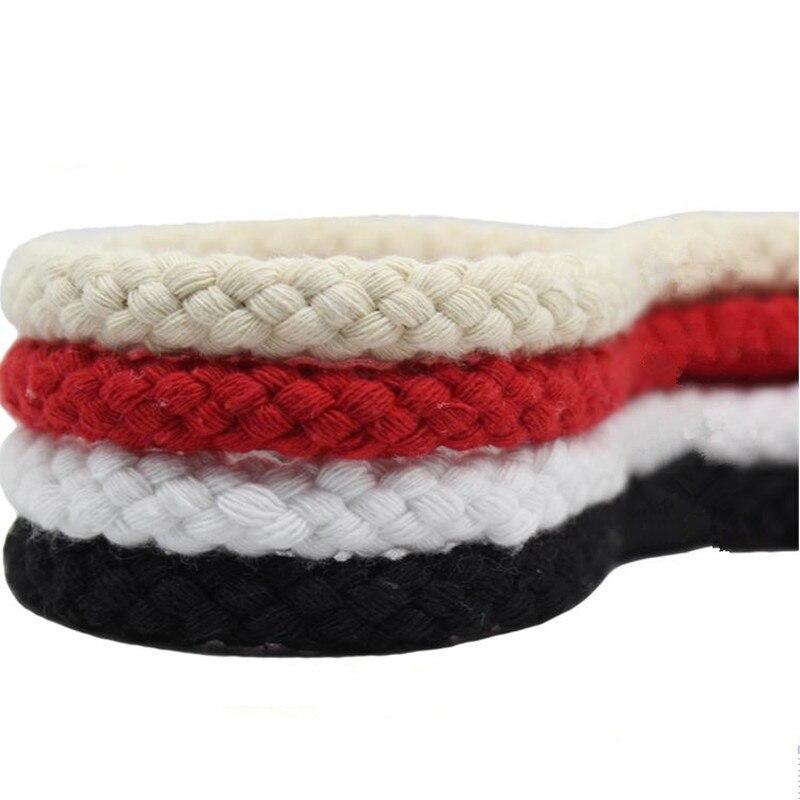 10 мм Ручная работа плетеная веревка Красный Белый Черный завязанный узел шнур веревка украшение детского сада 100% хлопок макраме нить Шнуры      АлиЭкспресс