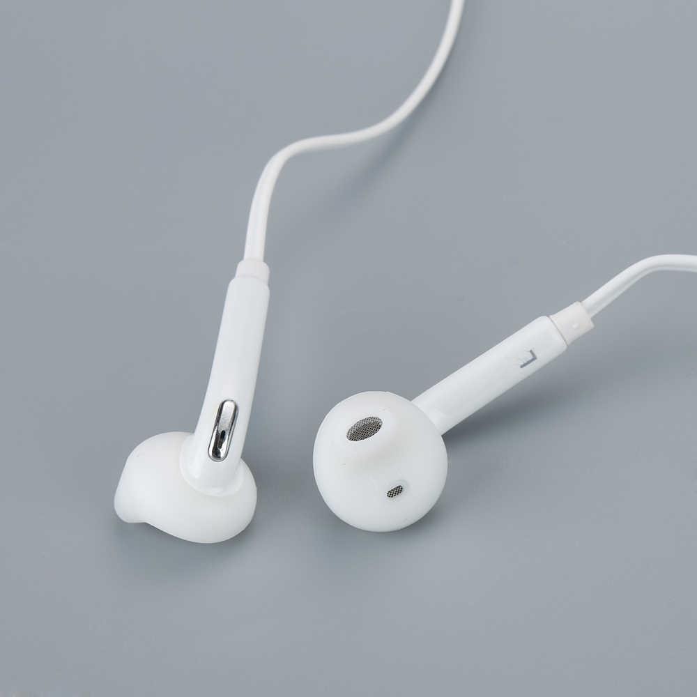1pc 3.5mm słuchawka douszna Stereo Super Bass słuchawki przewodowe słuchawki douszne z mikrofonem do Samsung Galaxy S6 najnowsze słuchawki akcesoria