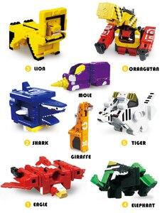 Image 5 - Cubo di Assemblaggio Blocchi di Costruzione Giocattoli Educativi Action Figure Trasformazione Numero di Robot di Deformazione Robot Giocattolo per I Bambini