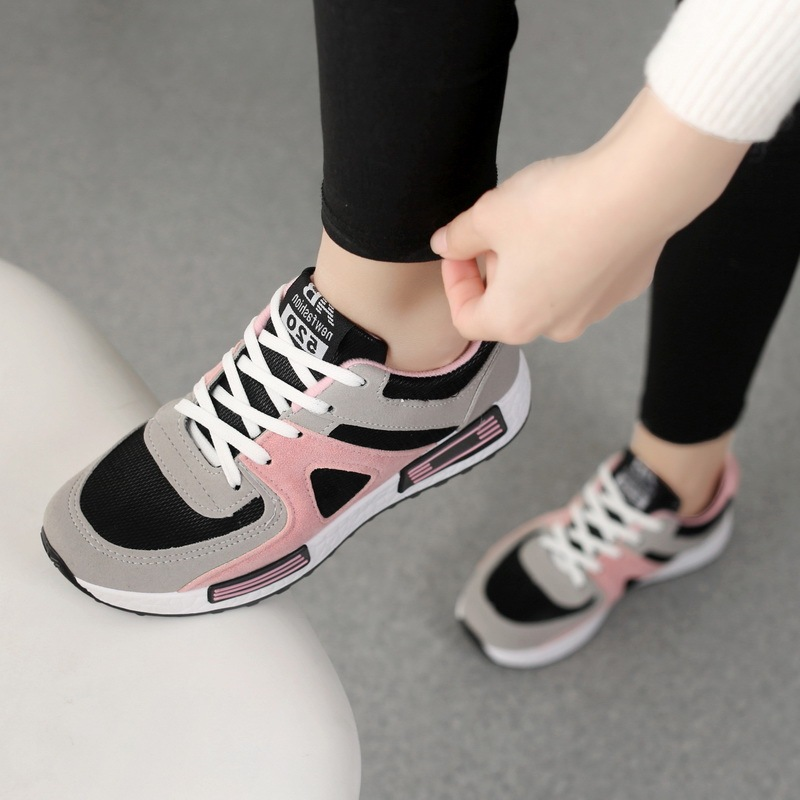 Sneakers Women Casual Shoes 2019 Fashion Breathable Mesh Ladies Sports Shoes Woman Solid Lace-up Running Shoes Women Sneakers