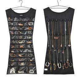 1 adet 30 cep 24 asılı döngü saklama çantası takı tutucu kolye bilezik küpe yüzük organizatör takı çantası 83*45cm