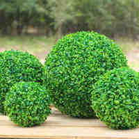 40cm Green Grass Ball Plastic Plants Ornament Party Decoration Garden Decor Wedding Decoration Artificial Flowers DIY Grass Ball
