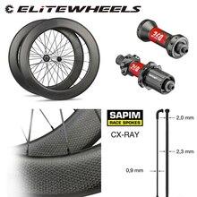 High End Dimple Carbon Wheel DT240S /DT350S Hub Sapim CX Ray Spoke 700c Road Bike Wheelset 45mm 50mm 58mm 80mm Clincher Tubular