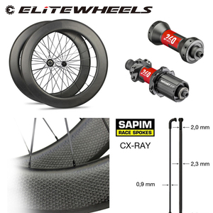 Image 1 - High End Dimple Carbon Wheel DT240S /DT350S Hub Sapim CX Ray Spoke 700c Road Bike Wheelset 45mm 50mm 58mm 80mm Clincher Tubular