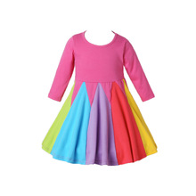 Baby girl Dress Kids clothes For little Girls Princess Dress For wedding Party Colors rainbow Dress 12-24M 2 3 4 5Years Old Kid canis розовый 4 5years