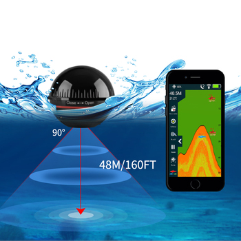 Erchang XA02 Fish Finder For Fishing 48m/160ft Bluetooth Wireless Depth Echo Sounder Portable Sonar