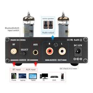 Image 4 - AIYIMA 6K4 Vakuum Rohr Verstärker Vorverstärker Bluetooth 5,0 Preamp AMP Mit Höhen Bass Ton Einstellung Für Zuhause Sound Theater