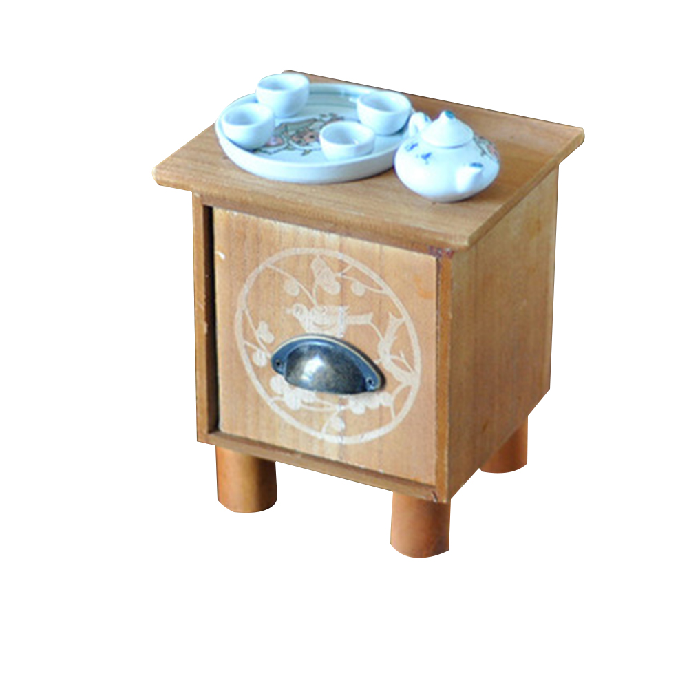 Photography Props Mini Chair Decoration Posture Studio Tool Accessories Tea Table Set Newborn Baby Easy Install Gift Wood Infant