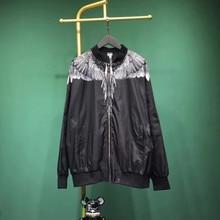 MARCELO BURLON Jackets Men Women 19SS Jacket County Of Milan  Feathers Wings Print MB Outerwear Coats