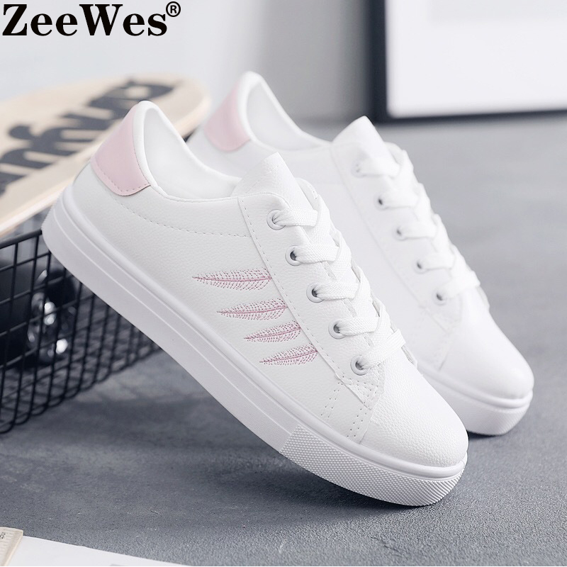 Female Flat Casual Shoes 2019 New Spring Autumn Women Vulcanized Shoes Women's Shoes Sneakers White Shoes Woman Zapatillas Mujer