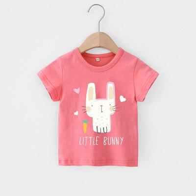 VIDMID Baby girls t-shirt Summer Clothes Casual Cartoon cotton tops tees kids Girls Clothing Short Sleeve t-shirt 4018 06 15