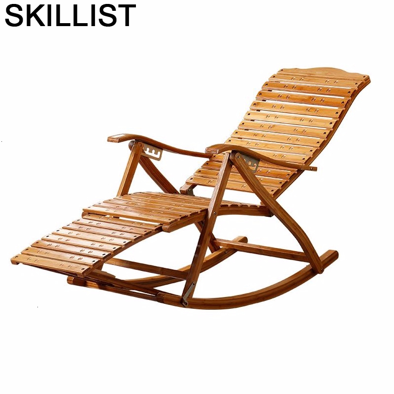 Armchair Rocking Bamboo Cama Plegable Folding Bed Fauteuil Salon Sillones Moderno Para Sala Sillon Reclinable Recliner Chair