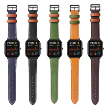 цена на Replacement Accessories for Xiaomi Huami Amazfit GTS Leather Band for Amazfit GTR Stratos 2 2S 3 Pace Bip Watch Strap Watchband