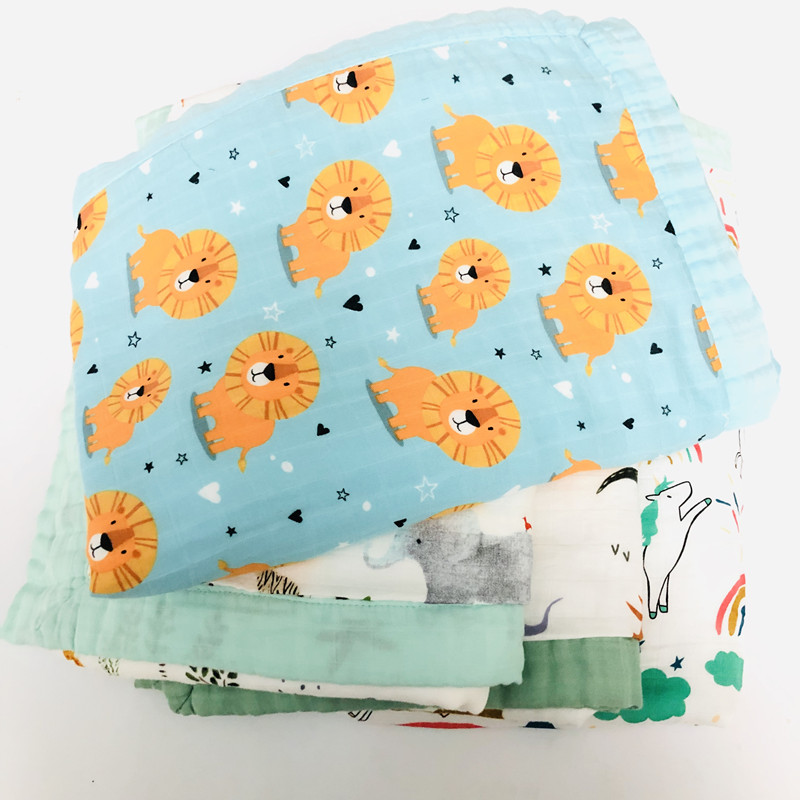 SIX Layers Baby Muslin  Blanket Kids Blanket Swaddle Wraps   Baby Muslin Blankets Newborn 70%Bamboo 30%cotton Muslin Quilt