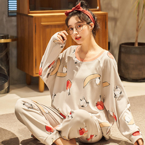 Image 5 - BZEL Womens Pajamas Sets Plus Size Femme Nighty Casual Homewear Loungewear Cotton Sleepwear Cartoon V Neck Pijama Pyjamas M 3XL