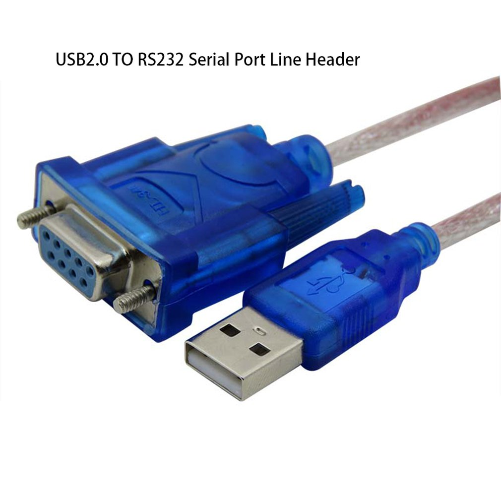USB2.0 To RS232 Female Adapter Cable USB To DB9 Hole Female Cable Adapter  For Cashier Label Printer Led Display Scanner Pos Hot