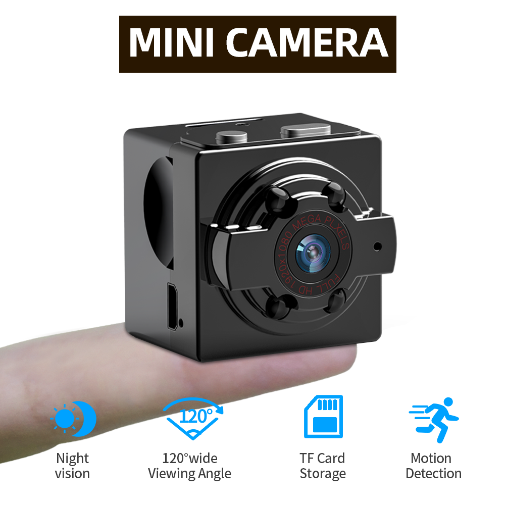 SDETER 720P Camera Mini Camera Camcorders Sport DV IR Night Vision Motion Detection Small Camcorder DVR Video Recorder Max 128G