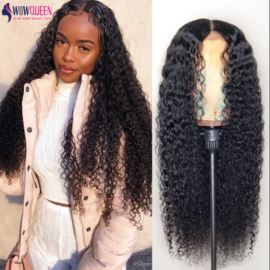 30 Inch Water Wave Wig 4x4 Lace Closure Wig Malaysian Full End13x6 Lace Front Wig WowQueen Remy Lace Front Human Hair Wigs