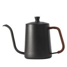 350/600 ml de aço inoxidável suporte de montagem mão punch pot café potes gotejamento gooseneck bico longa boca chaleira café bule