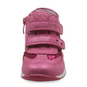 Image 2 - Primavera outono meninas sapatos nova criança de couro do plutônio crianças tênis com zip anti deslizamento sapatos para meninas eur 21 26