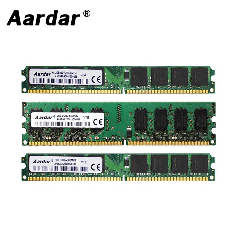 Aardar DDR2 4GB 800MHz Per AMD PC RAM di Memoria 2GB DDR2 667MHz Per Intel Modulo di Memoria computer Per Desktop 2GB 800MHz Per Intel