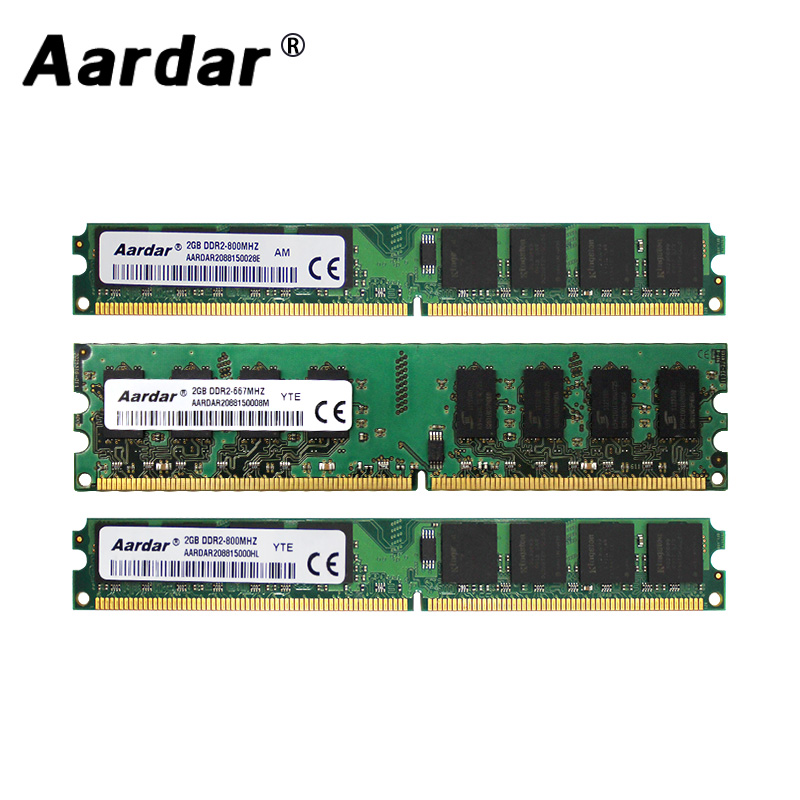 Aardar <font><b>DDR2</b></font> 4GB 800MHz For AMD PC Memory <font><b>RAM</b></font> 2GB <font><b>DDR2</b></font> <font><b>667MHz</b></font> For Intel Memory Module Computer For Desktop 2GB 800MHz For Intel image