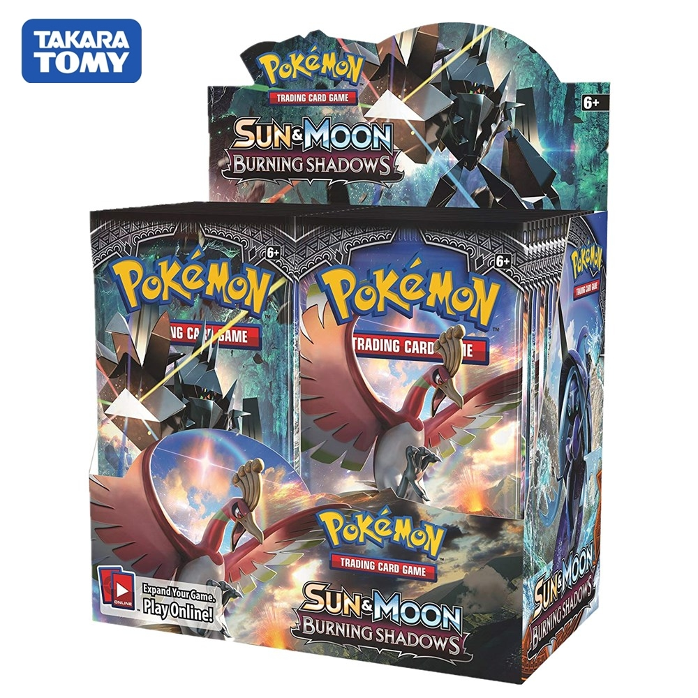 324pcs/Set Pokemon Cards TCG: Sun & Moon Series Burning Shadows Booster Box Collectible Trading Card Game Kids Toys