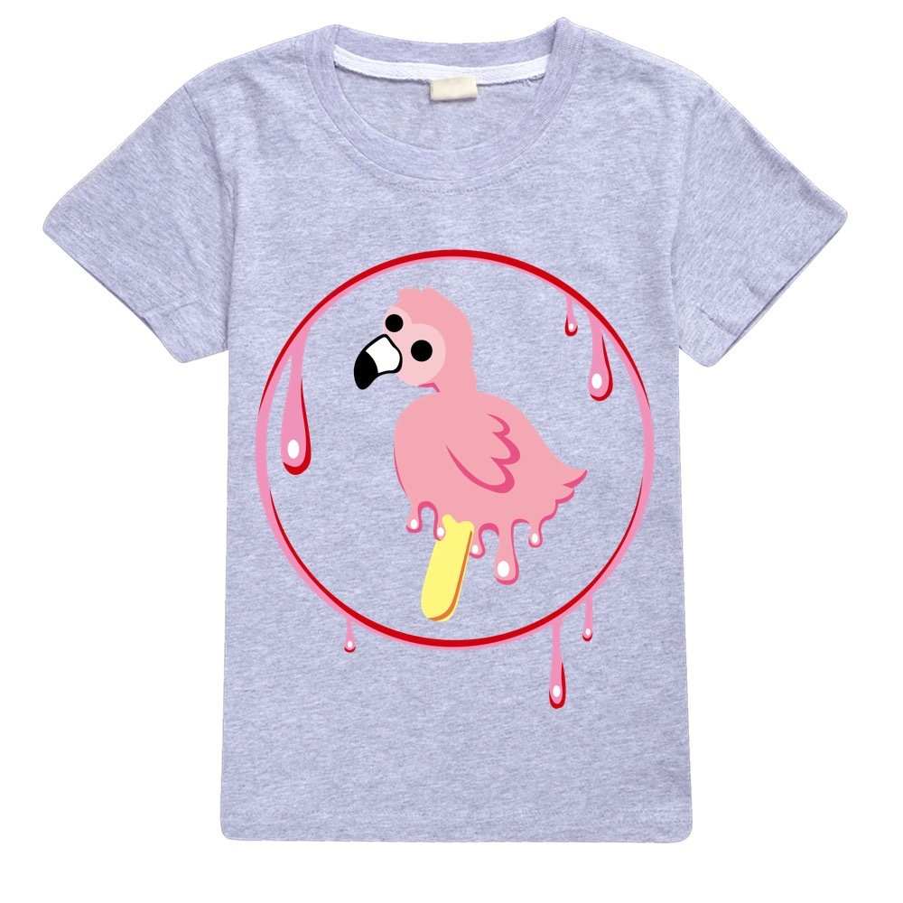 Youth Boy Tshirt Flamingo Flim Flam T-shirts for Girls Kids T Shirts Big Boys Short Sleeve Tees  Kids Summer Clothes Pink Shirt 3