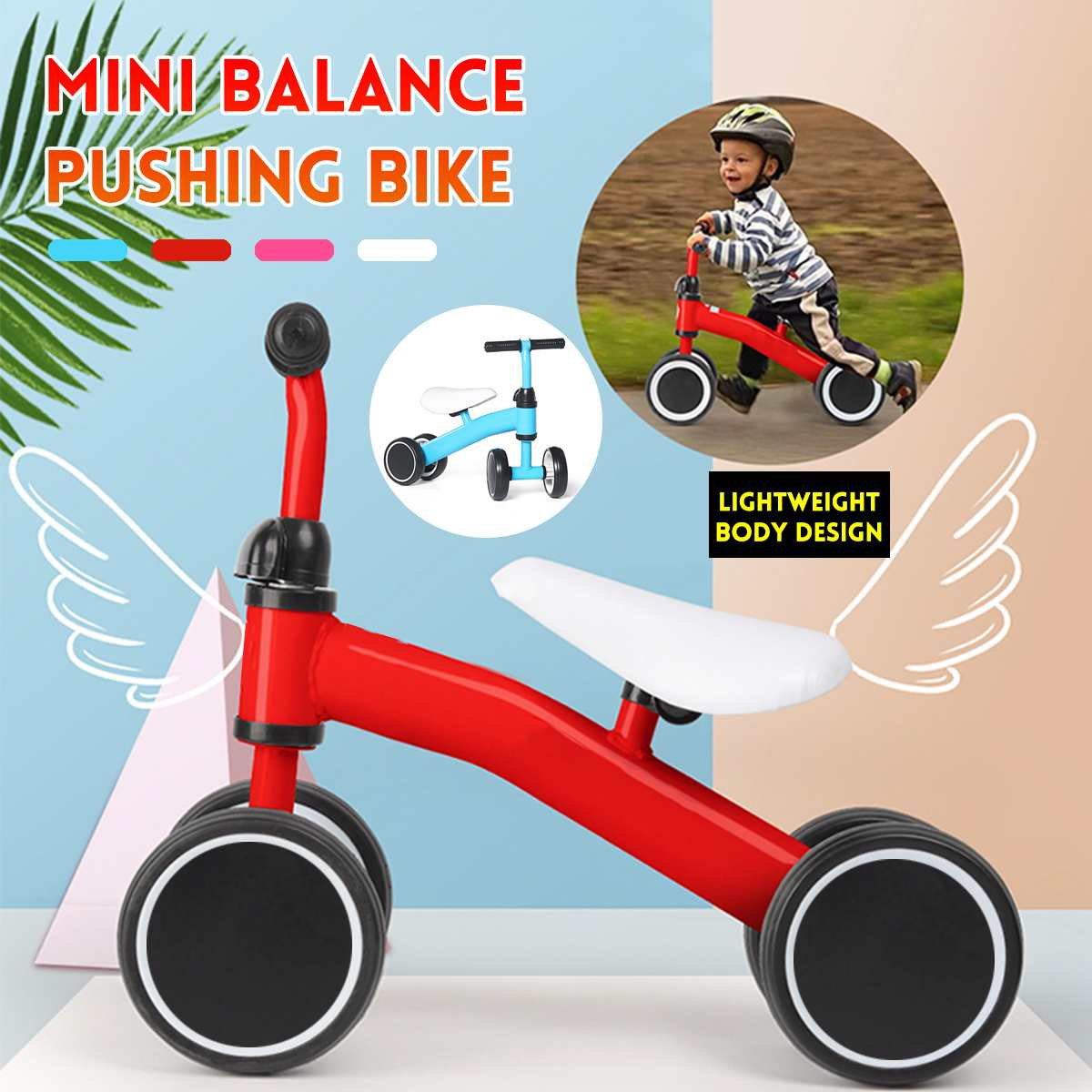 Mini Baby Balance Bike Bicycle Walker Indoor Outdoor Kids Ride on Car Toys Gift for 1-3 years Old Children Learning Walk Scooter