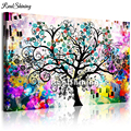 Full Square Round Drill 5D DIY Diamond Painting Abstract Colorful Life Tree Embroidery Cross Stitch Mosaic Diamond 3 Colors T77