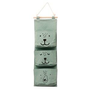 Image 5 - 벽 교수형 욕실 목욕 장난감 가방 주최자 리넨 옷장 어린이 파우치 아기 목욕 완구 도서 화장품 잡화