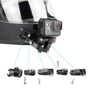 Image 3 - SOONSUN Adaptador de soporte frontal y lateral para casco, reducción de ruido del viento, espuma a prueba de viento, esponja para GoPro Hero 8/7/6/5/2018, accesorio