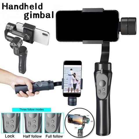 Handheld ao ar Transmissão ao Vivo Suporte do Telefone Cardan Smartphone Estabilizador Universal Livre Monopod 3-axis